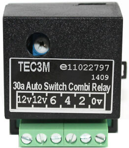universal self switching split charge relay 12v towbar electrics rh ebay co uk 8 Pin Relay Wiring Diagram Relay Switch Wiring Diagram