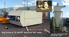 16 Air Filter Dust Collector Mechanical Shaker Baghouse Cyclone And Rotary Fee
