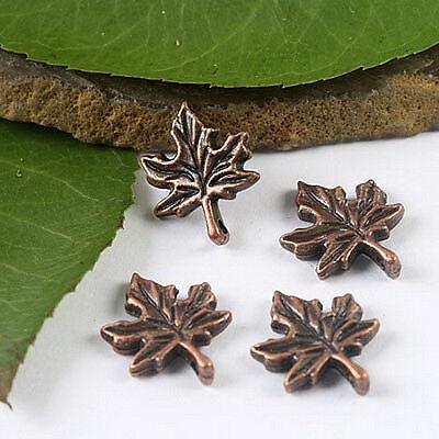 45pcs copper-tone maple leaf charms  H2148