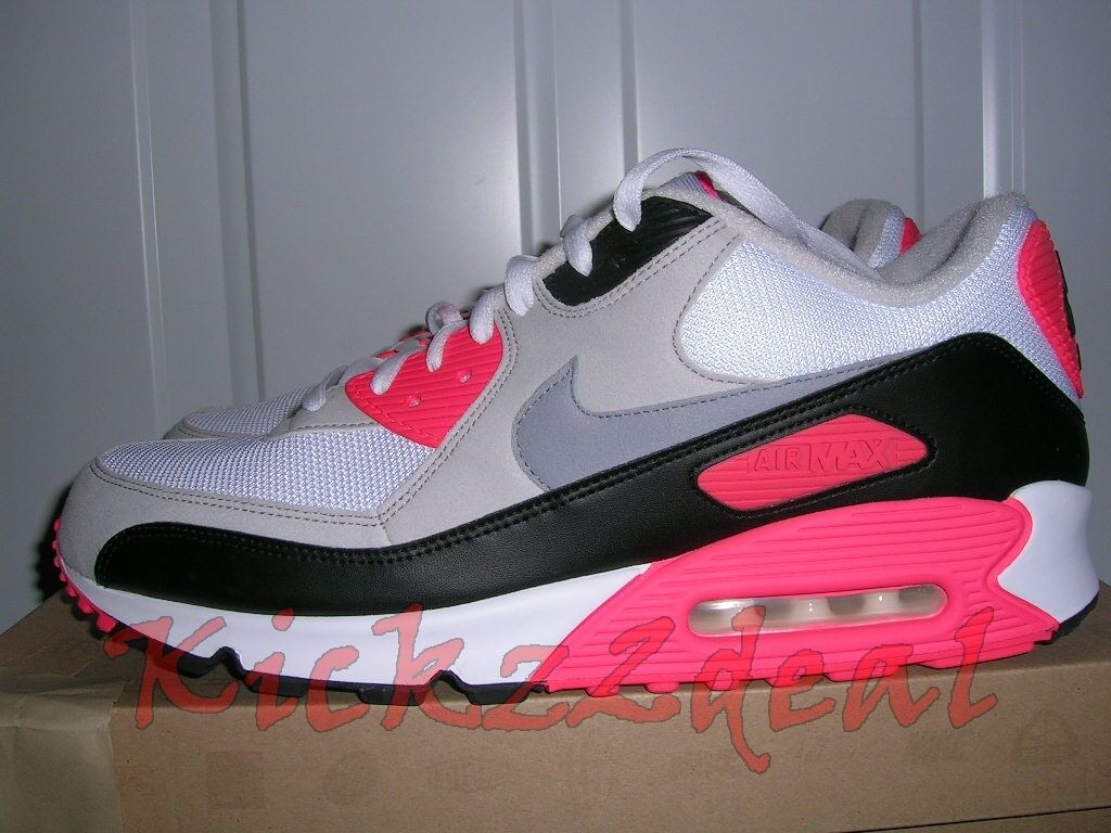 NEW Nike Air Max 90 Running Shoe 13 - 15 White/Cement/Infrared infared 325018107 Wild casual shoes