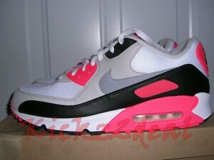 Details about 2010 NEW Nike Air Max 90 Trainers MEN SZ 13 15 WhiteInfrared infared 325018 107