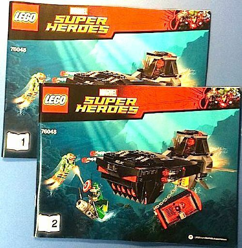 LEGO Iron Skull Sub Attack Instructions ONLY 76048 Avengers Marvel Super Heroes