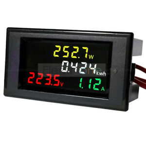 AC-200-450V-100A-Digital-LCD-Voltmeter-Ammeter-Electric-Energy-Power-Panel-Meter