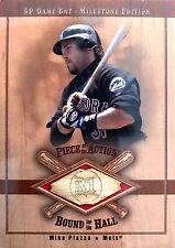 Mike Piazza 2001 Upper Deck SP Milestone Game Bat New York Mets HOF