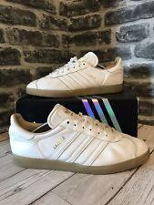 7aa9f3f1848 Mens adidas Originals Gazelle Trainers White Leather Retro BB5503 UK ...