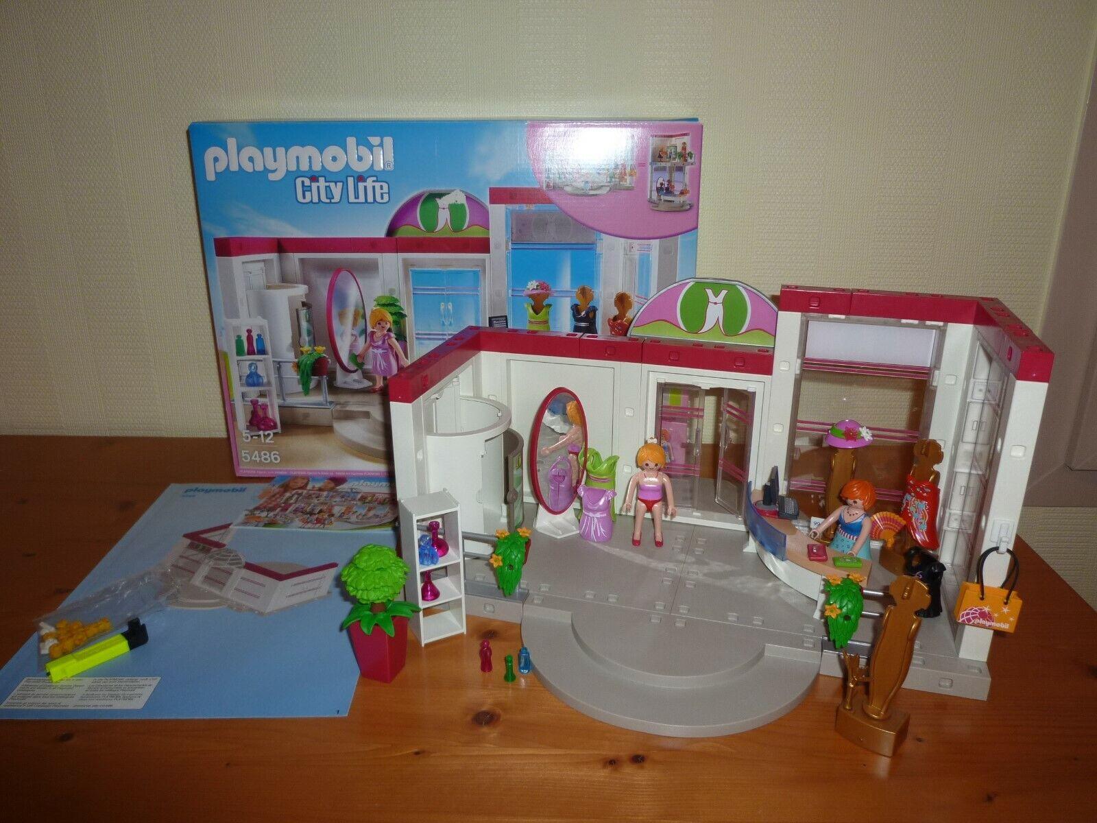 PLAYMOBIL - CITY LIFE Boite 5486 complète Boutique de Vêtements Magasin Robe Sac