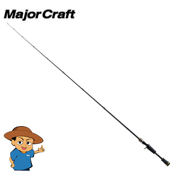 Major Craft BENKEI BIC-622M Medium 6'2  bass fishing baitcasting rod pole