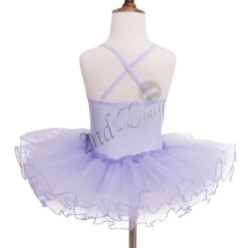 Toddler Kids Girls Leotard Ballet Dress Gymnastics Tutu Skirt Dancewear Costume