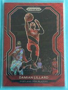 🔥 2020-21 Panini Prizm RED ICE Damian Lillard Blazers MVP SP PSA Ready🔥