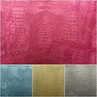 Alligator Prints Suede Velvet Fabric 56 Wide Upholstery Tablecloths By The Yard