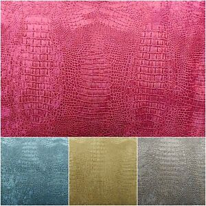 Suede-Velvet-Fabric-Alligator-Prints-56-034-Wide-Upholstery-Tablecloths-By-The-Yard