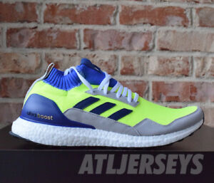 best service f05b1 0c3ee Image is loading Adidas-Ultra-Boost-Mid-Prototype-Solar-Yellow-Blue-