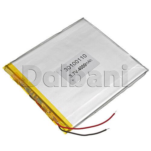 New 3.7V 4000mAh Li-ion Polymer Battery 109.85x98.87x3.23mm30100110 29-16-0604
