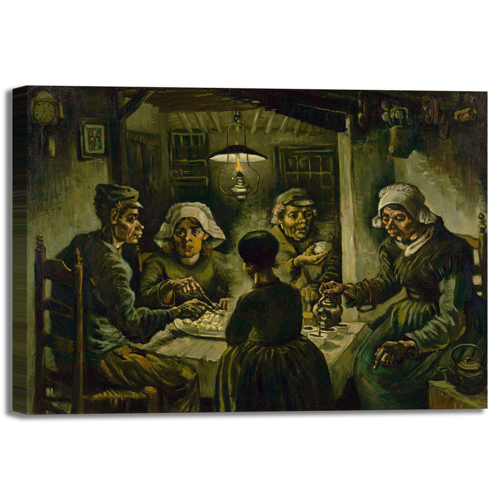 Van Gogh i mangiatori di patate patate patate quadro stampa tela dipinto telaio arrossoo casa 106abf