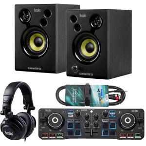 hercules dj starter kit 2 deck usb dj controller set keepdrum audio cable 4251073834757 ebay. Black Bedroom Furniture Sets. Home Design Ideas