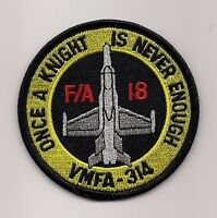 USMC VMFA-314 BLACK KNIGHTS HORNET patch F/A-18 HORNET FIGHTER ATTACK SQN