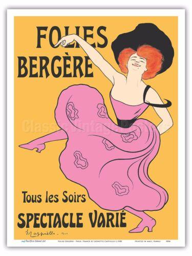 France Leonetto Cappiello 1900 Cabaret Poster Print Folies Bergère Paris
