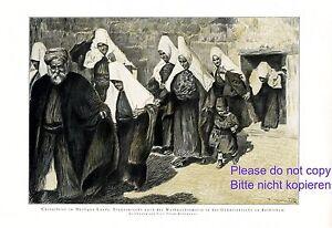 Christmette-Bethlehem-XL-Kunstdruck-1925-Kienmayer-Geburtskirche-Weihnachten