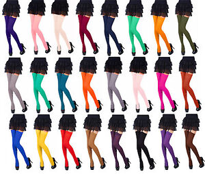 Opaque-Stockings-40Denier-Plain-Top-by-Romartex-24Fashionable-Colours-Sizes-S-XL