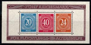 Americane, britanniche e russe zone 1946 MER. BL. 12a blocco 100% postfri