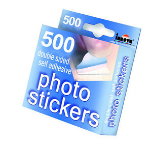 500-Double-Sided-Self-Adhesive-Photo-Stickers-Scrapbook-Photograph-Album-Fixings
