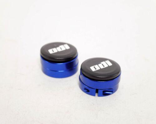 ODI Lock Jaw Lock-On MTB Grip Clamps Pair Blue