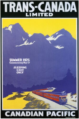 CANADA.Canadian Pacific1925 Vintage Art Deco Travel/Railway Poster A1A2A3A4Sizes