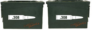 .308 ammo box( bullet DECALS) NO BOX INCLUDED Four decals included