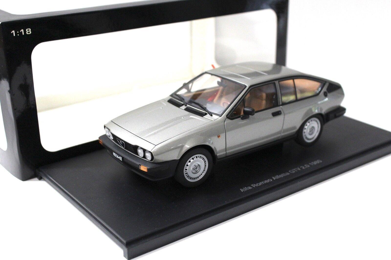1 18 Autoart Alfa Romeo Alfetta GTV 2.0 gris 1980 New chez Premium-modelcars
