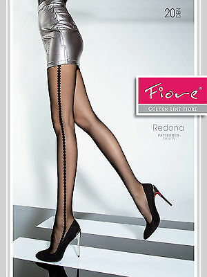 highly fashionable patterned tights. REDONA FIORE Tights 20 denier Top quality