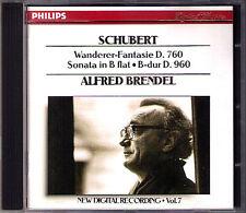 Alfred BRENDEL: SCHUBERT Piano Sonata D.960 Wanderer Fantasie D.760 PHILIPS CD