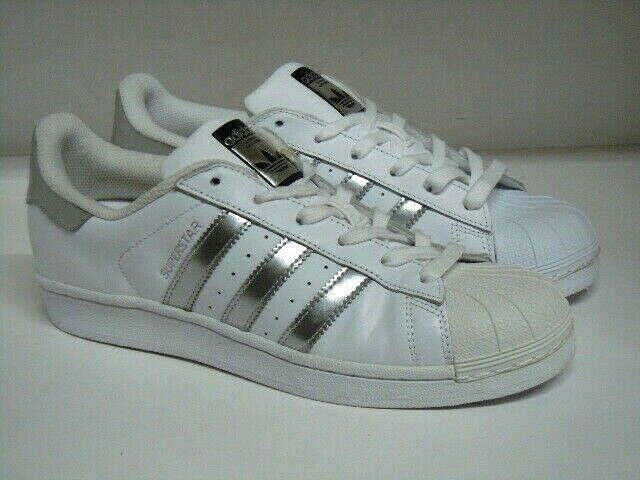 ADIDAS SUPERSTAR SNEAKERS WHITE SILVER