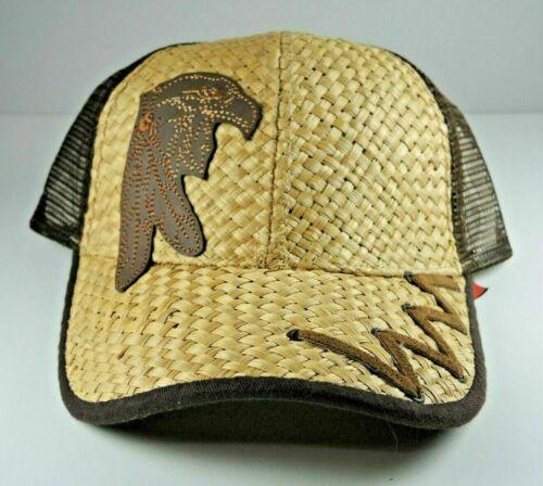 Som-Her Western Straw Eagle Hat Adjustable Strapb… - image 1
