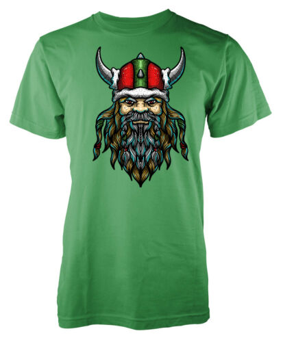 Viking Santa Father Christmas Soldier Warrior Adult T Shirt