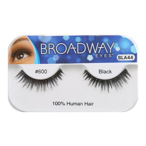0a38ebbe032 [BROADWAY EYES] FALSE STRIP EYELASHES 100% HUMAN HAIR BLACK #600 (BLA44