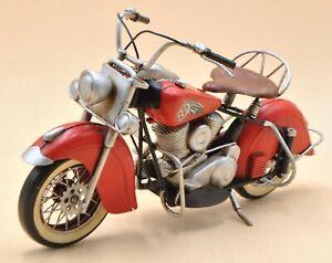 Vintage Production Harley Davidson Indian Motorcycle Hot Red Color Artwork Sale Ebay