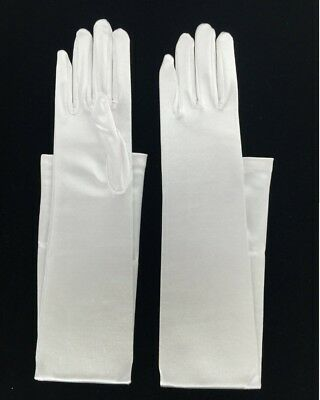 Costume Prom 15 inches length Satin Evening Dress Gloves for Wedding Dance