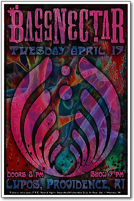 Bassnectar Poster New 11x17 Original Concert Handbill, New, Lupos Providence, RI