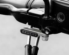 Sportster LED Blinker + halter getönt Silber Lenkerarmaturen E-gep. paar Harley