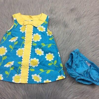 Gymboree NWT Aqua Blue DAISY GIRAFFE LEGGINGS RUFFLE DRESS BOTTOMS 3 6 Months