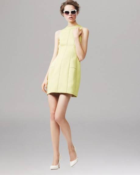Rebecca Taylor Chartreuse Jaune Texturé Brocade S L Robe 375   Neuf avec étiquettes 6