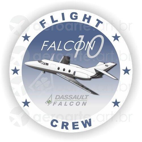 Dassault Falcon 10 aircraft round sticker