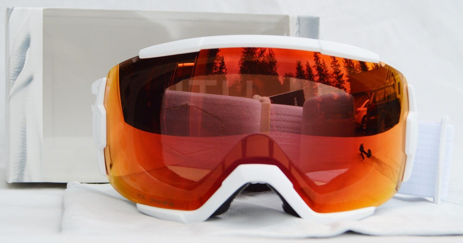 2018 NIB SMITH VICE SNOWBOARD GOGGLES  whiteout   red mirror