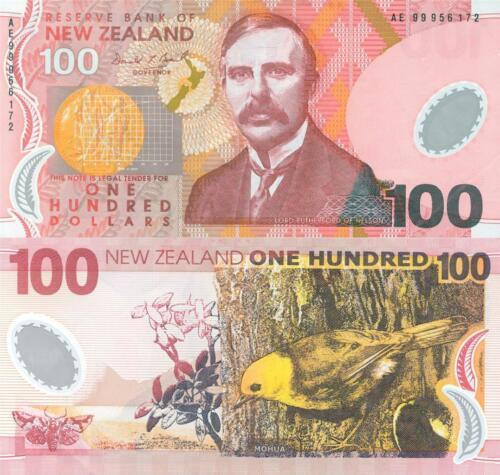 LORD ERNEST RUTHERFORD 100 NEW ZEALAND DOLLARS GLOSSY POSTER PICTURE PHOTO 1406