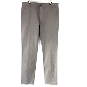 HUGO-BOSS-Pantalon-chino-pour-hommes-heldor-taille-52-kaki-classique-NP-189-Neuf