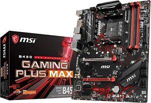 MSI-B450-GAMING-PLUS-MAX-ATX-Motherboard-AMD-MB4821-AM4-ATX-DDR4-DIMM-PC-Item