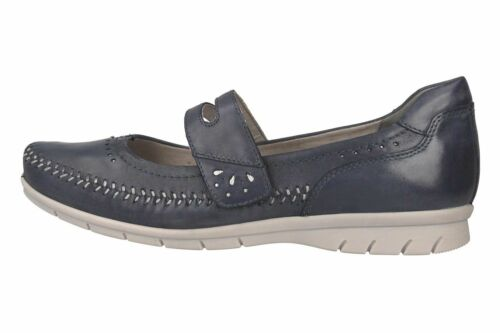 Jana Ballerine Dans Grandes Tailles Bleu 8-24611-22 846 grandes Chaussures Femmes