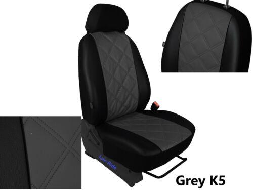 OPEL Vivaro 2001-2014 2+1 Eco Cuero En Relieve adaptado cubierta de asiento del conductor