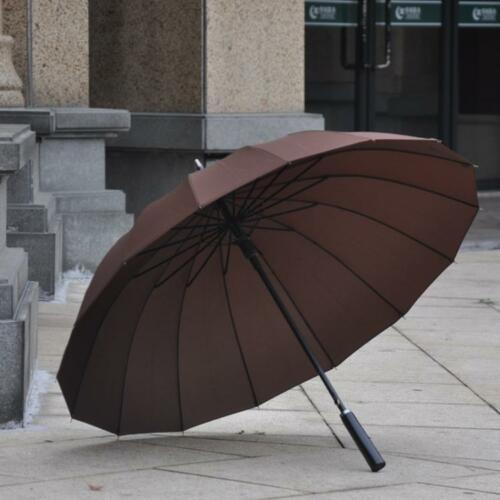 Mens standard umbrella long handal strong sun rain UV umbrellas windproof