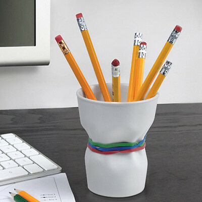 Fred & Friends CRUNCH TIME Crinkle Cup Desk Organizer Pen Pencil Pot Holder Tidy